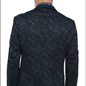 Other - Maddison All Black Pasley Print Sports Coat